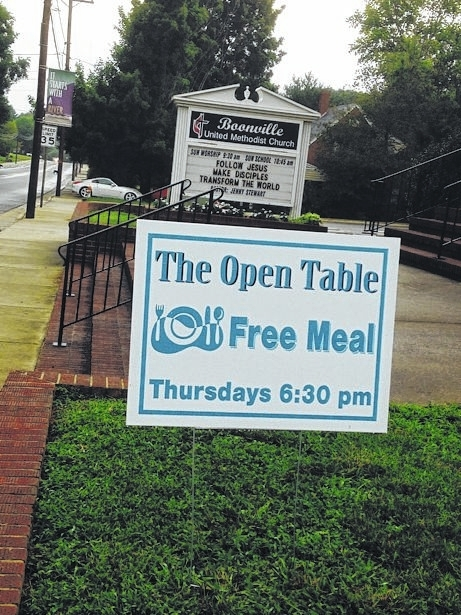 Boonville church offers free meal