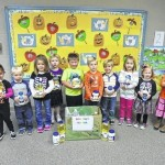 Preschoolers donate to Yadkin Christian Ministries