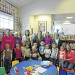 Preschoolers visit the library
