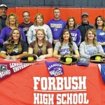 Softball: Four Forbush seniors sign on National Signing Day