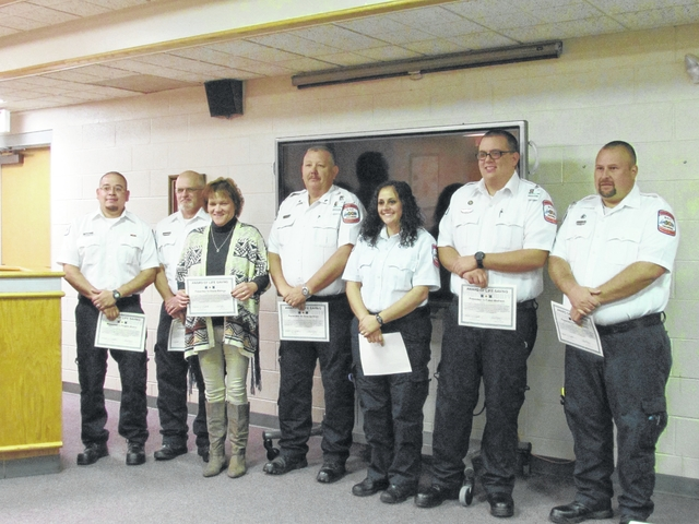 Awards for life saving presented to EMS staff