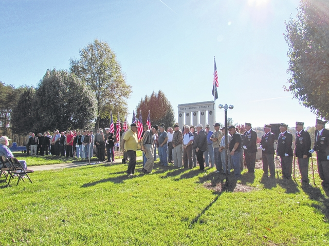Veterans Day celebrated at Yadkin County Park