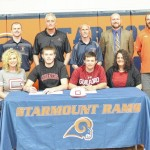 Two athletes sign letters of intent for Guilford College