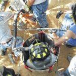 Grain bin rescue training for first responders