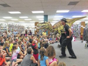 Dinos take over library