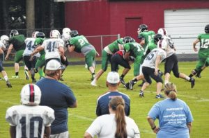 Forbush football holds scrimmage