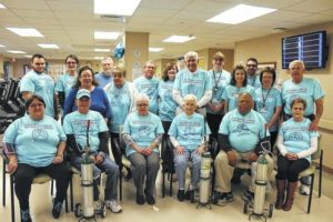 Hugh Chatham Pulmonary Rehab Program wear blue for National Pulmonary Rehab Week