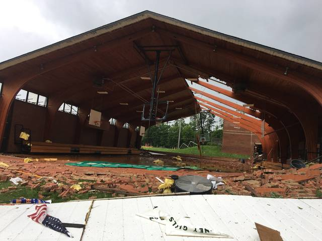 Storm rips through Yadkin County elementary school