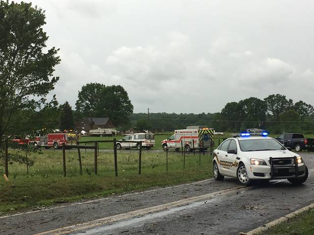 Possible tornado damage reported in Yadkin, Stokes, and Davie counties
