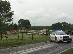 Officials assessing tornado damage in Courtney